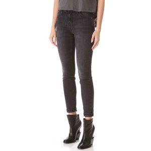 Current Elliott Dark Grey Skinny Jeans
